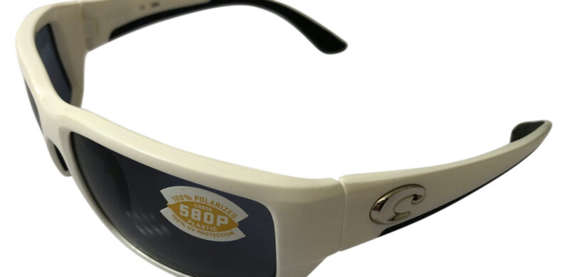Costa Del Mar Fantail Sunglasses - White Frame - POLARIZED Gray 580P