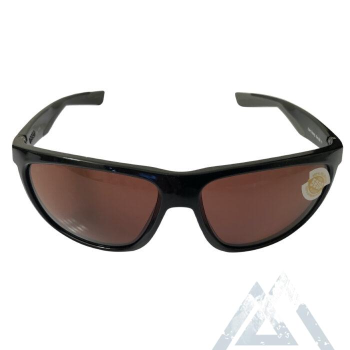 Costa Del Mar Kiwa Sunglasses - Shiny Black POLARIZED Copper 580P