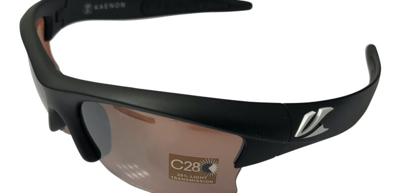 Kaenon Soft Kore S-Kore Sunglasses - Matte Black w/ White - C28 Polarized Copper Lens