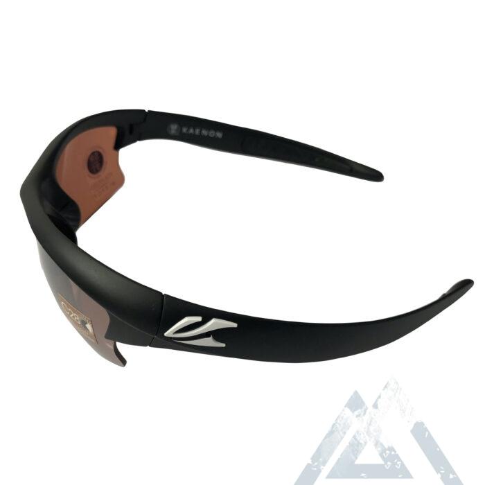 Kaenon Soft Kore S-Kore Sunglasses - Matte Black w/ White - C28 Polarized Copper Lens
