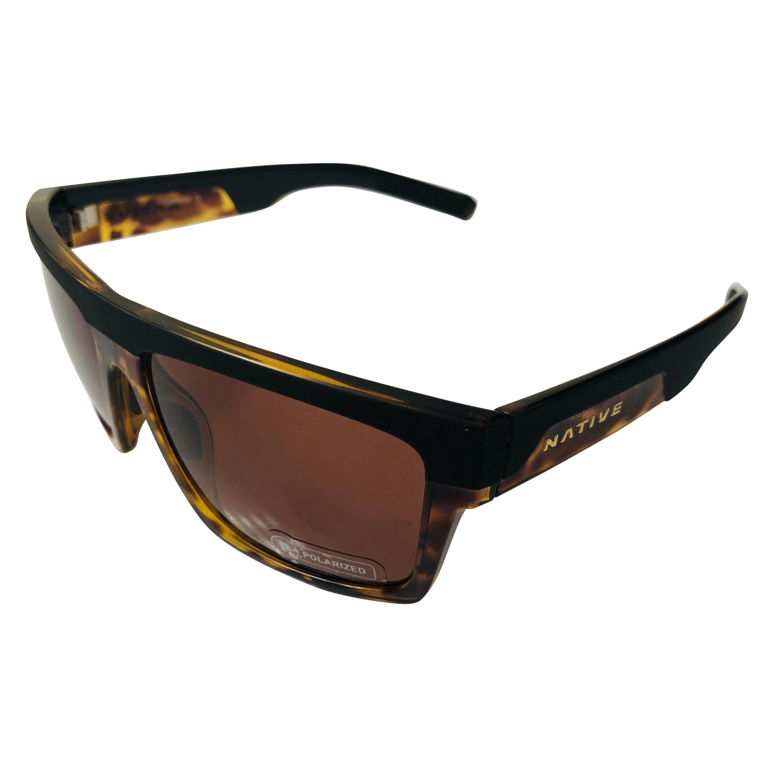 Native Eyewear El Jefe Sunglasses - Matte Black w/ Tortoise POLARIZED Brown