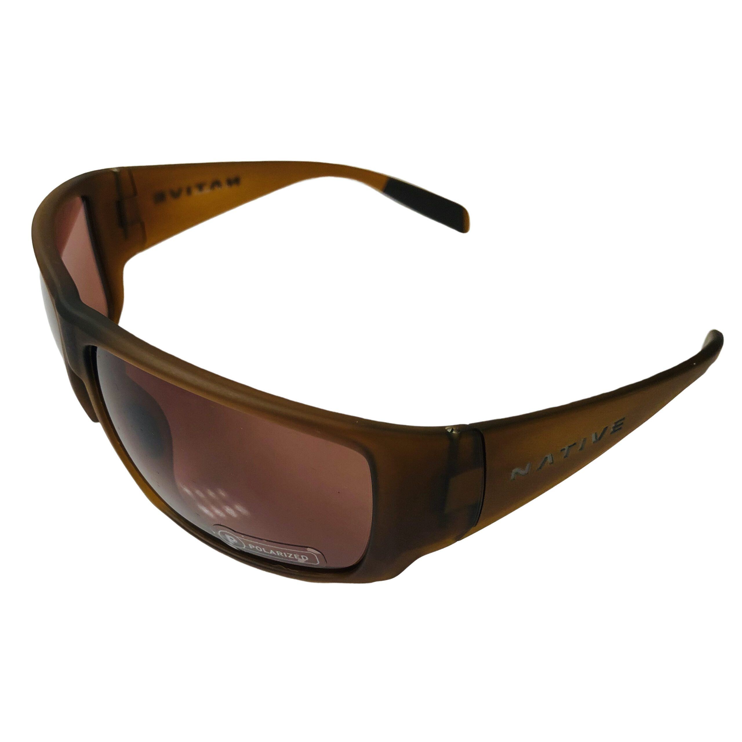 Native Eyewear Sightcaster Sunglasses - Matte Brown Crystal POLARIZED Brown