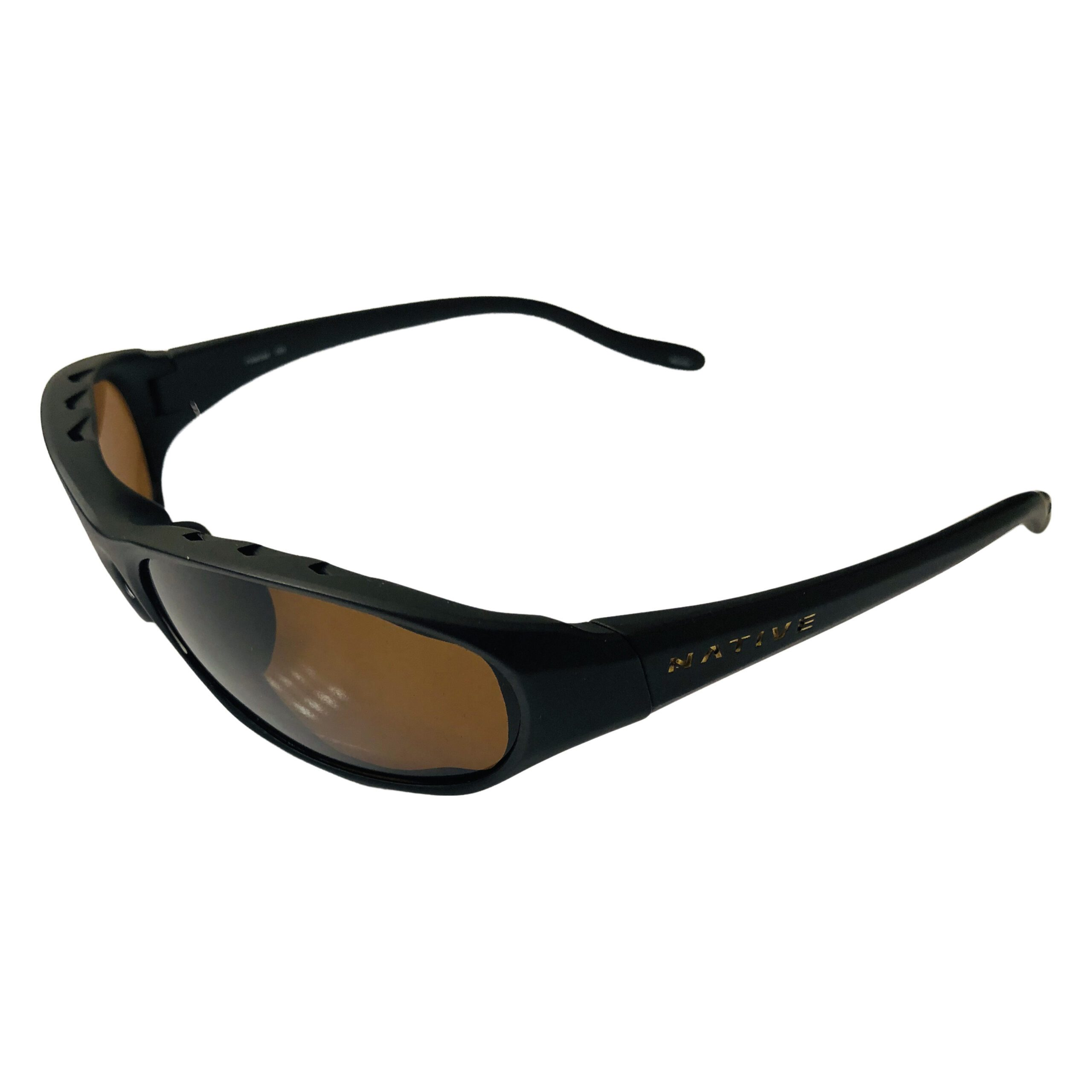 Native Eyewear Throttle Sunglasses - Matte Black Frame - Polarized Brown Lens