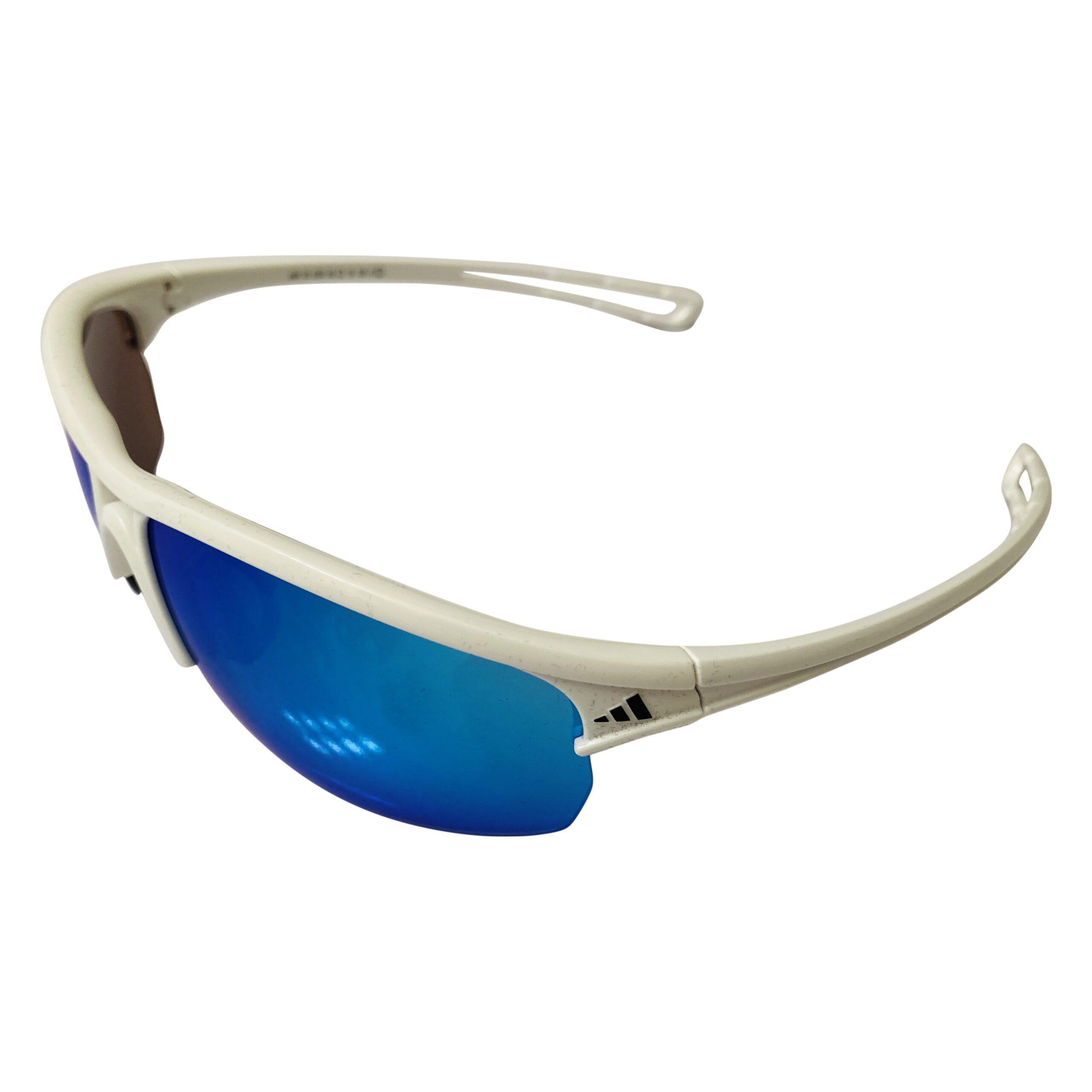 Adidas Raylor L Sunglasses - Shiny White Frame - Blue Lens A404/05