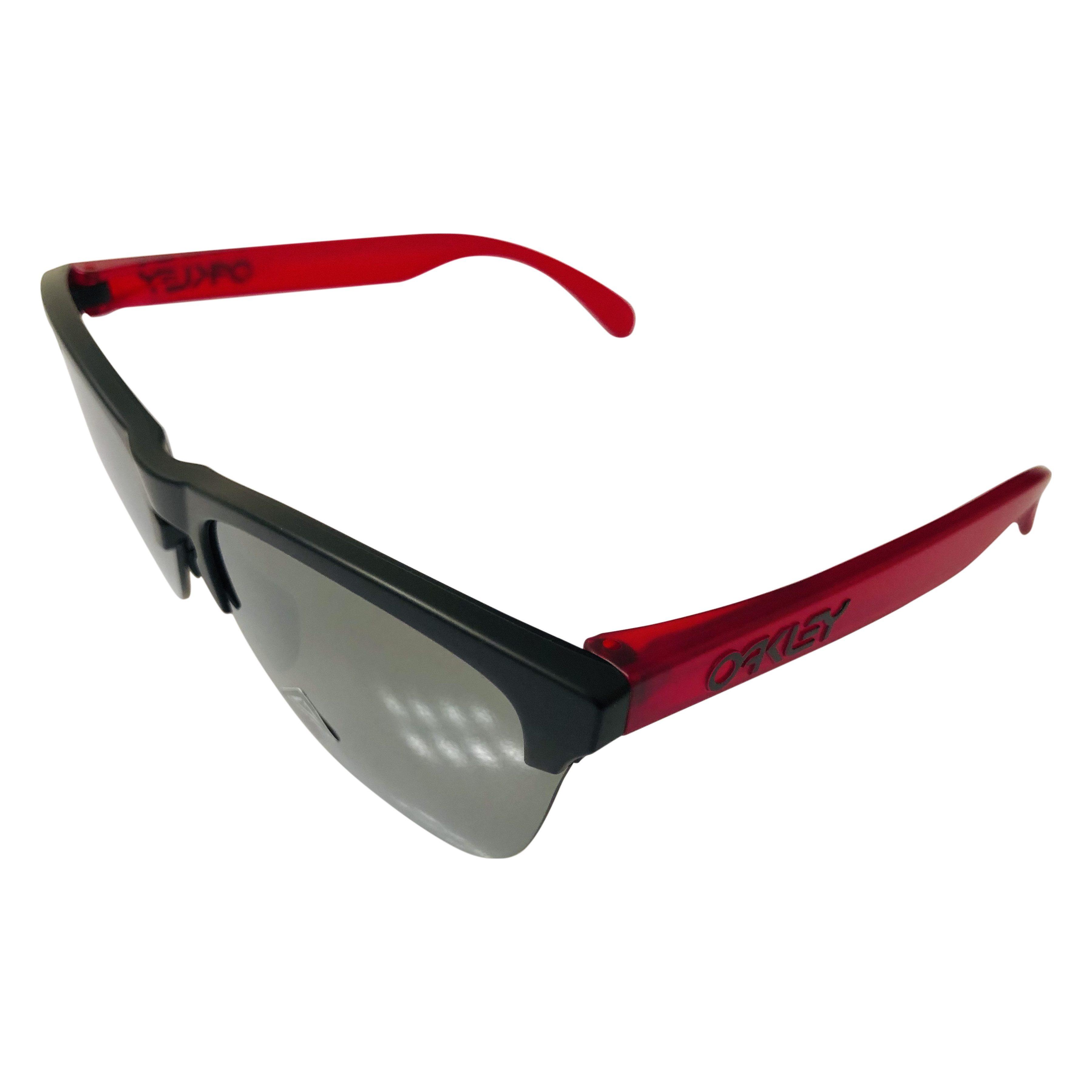 Oakley Frogskins Lite Sunglasses - Matte Black Red OO9374-2063 Prizm Iridium