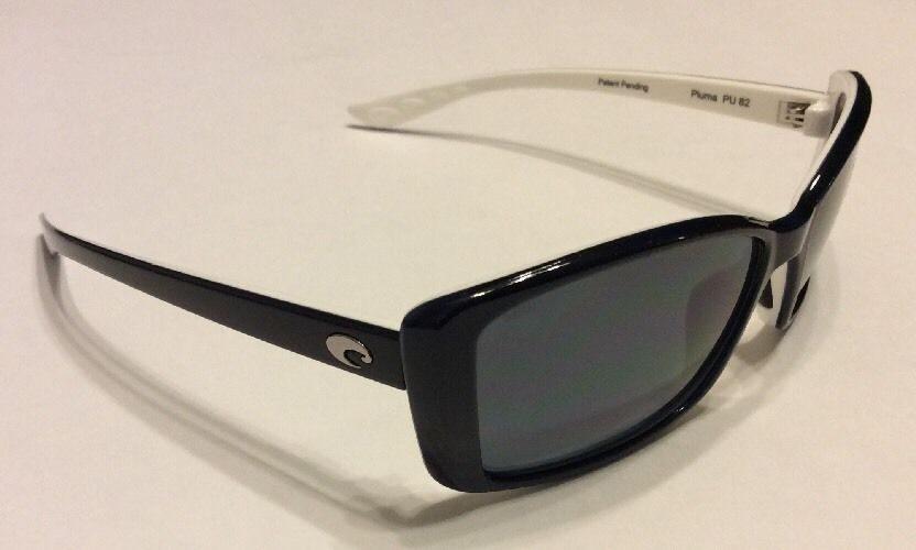 b6ec77f53686f Costa Del Mar Pluma Sunglasses - Topaz Blue White - Gray POLARIZED - 580P.  Costa ...