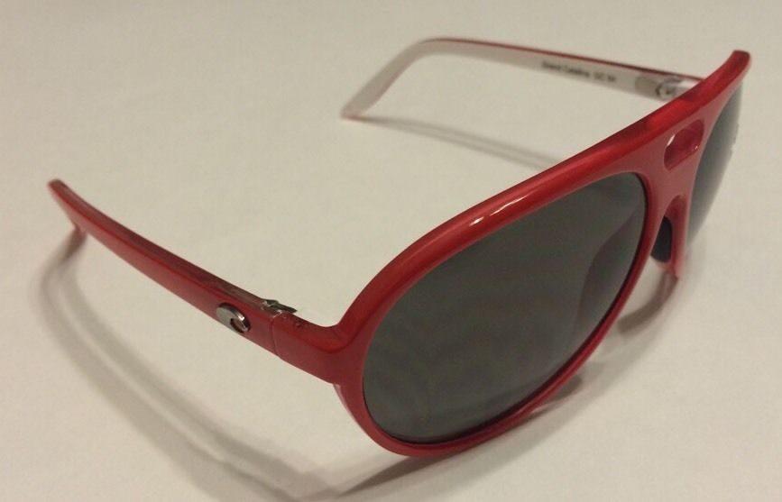 2d3584638cc37 Costa Del Mar Grand Catalina Sunglasses - Red White - Gray 400P POLARIZED.  Costa ...