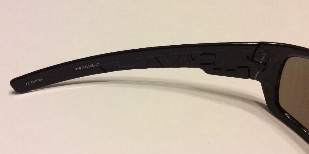 79d41284503d Under Armour UA Assert Sunglasses - Shiny Black Multicolor Frame - Blue Lens