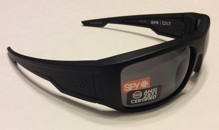 655f473bb5fa Spy Optic Colt Ansi Sunglasses - Z87.1 - Matte Black - Gray 673125374129.  Spy ...